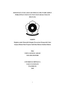Kedudukan Anak Laki Laki Sebagai Ahli Waris Akibat Perkawinan Nyentana Pada Masyarakat Bali Di Belitang Sriwijaya University Repository - Perkawinan Nyentana, Perkawinan Nyentana